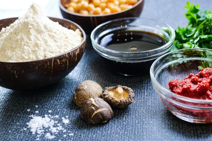 ingredients to make Vegan Seitan Braciole