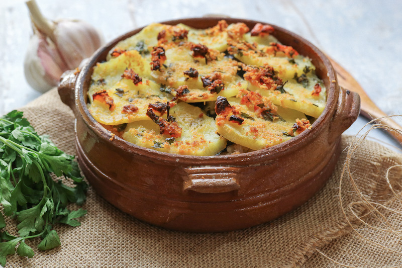 Patate, Riso e Alghe in monoporzione di coccio