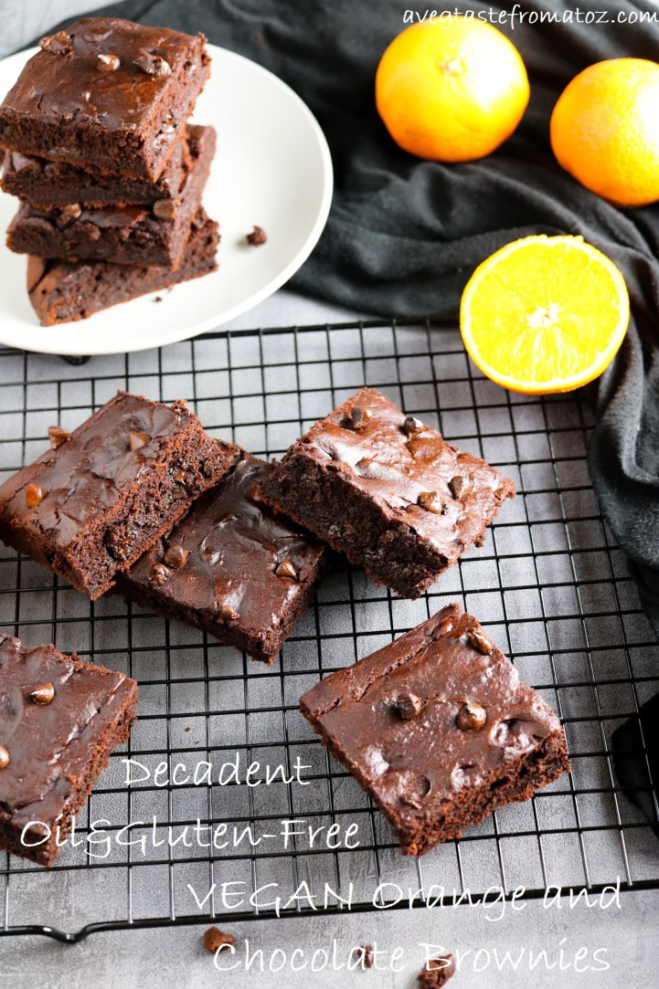 Oil-Free Decadent Orange & Chocolate Brownies for Pintrest