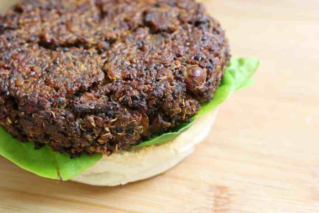 dettaglio Burger di Quinoa e Funghi