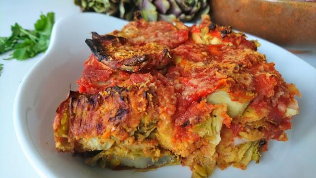 Parmigiana di Carciofi | Vegan & Senza Glutine