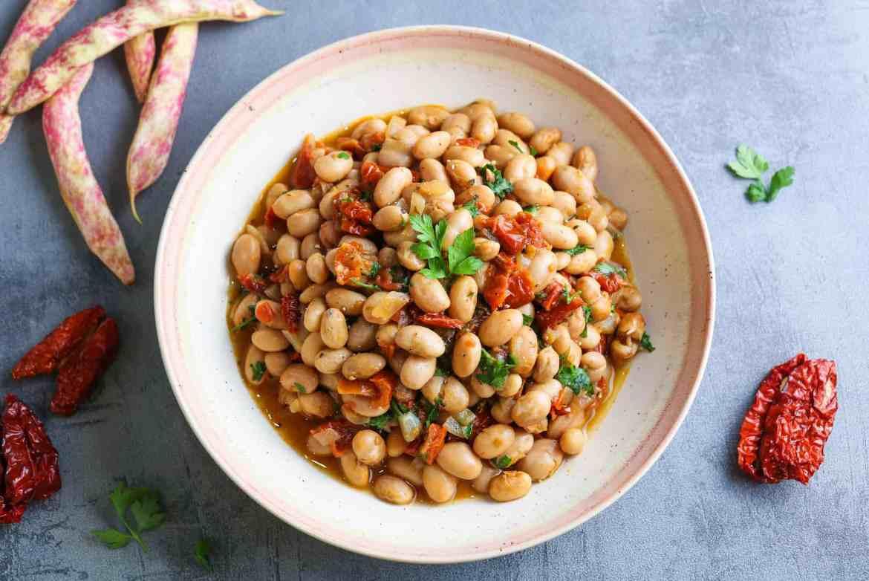 Borlotti Beans and Sundried Tomato Salad