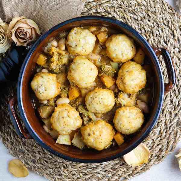 Vegan British Dumplings Featured Image