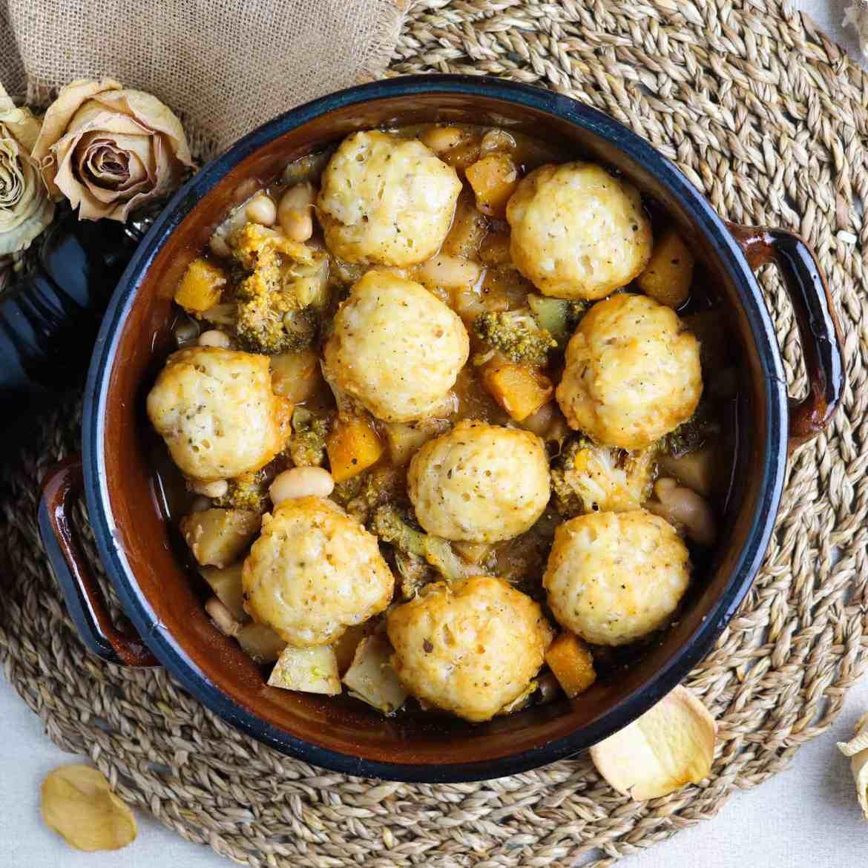 Vegan British Dumpling Stew