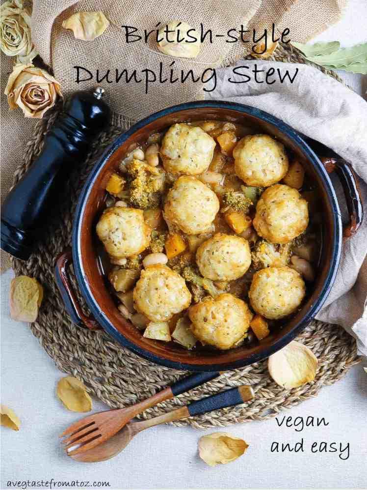 vegan british dumplings pinterest image