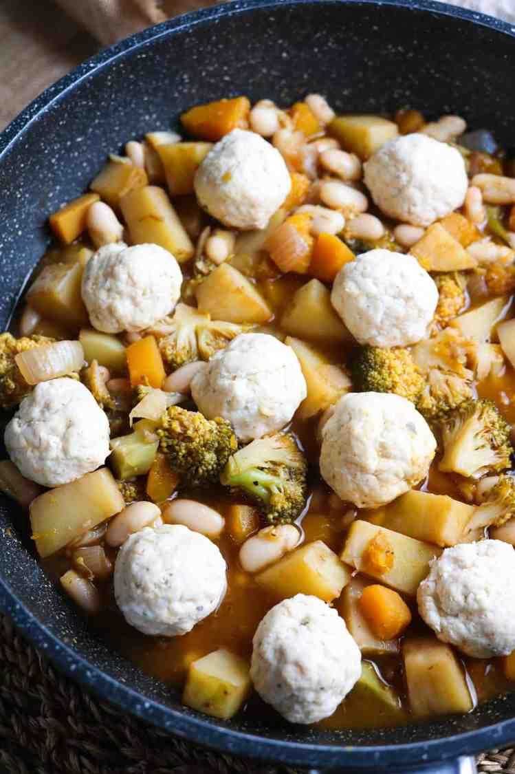 vegan british dumplings pre steam