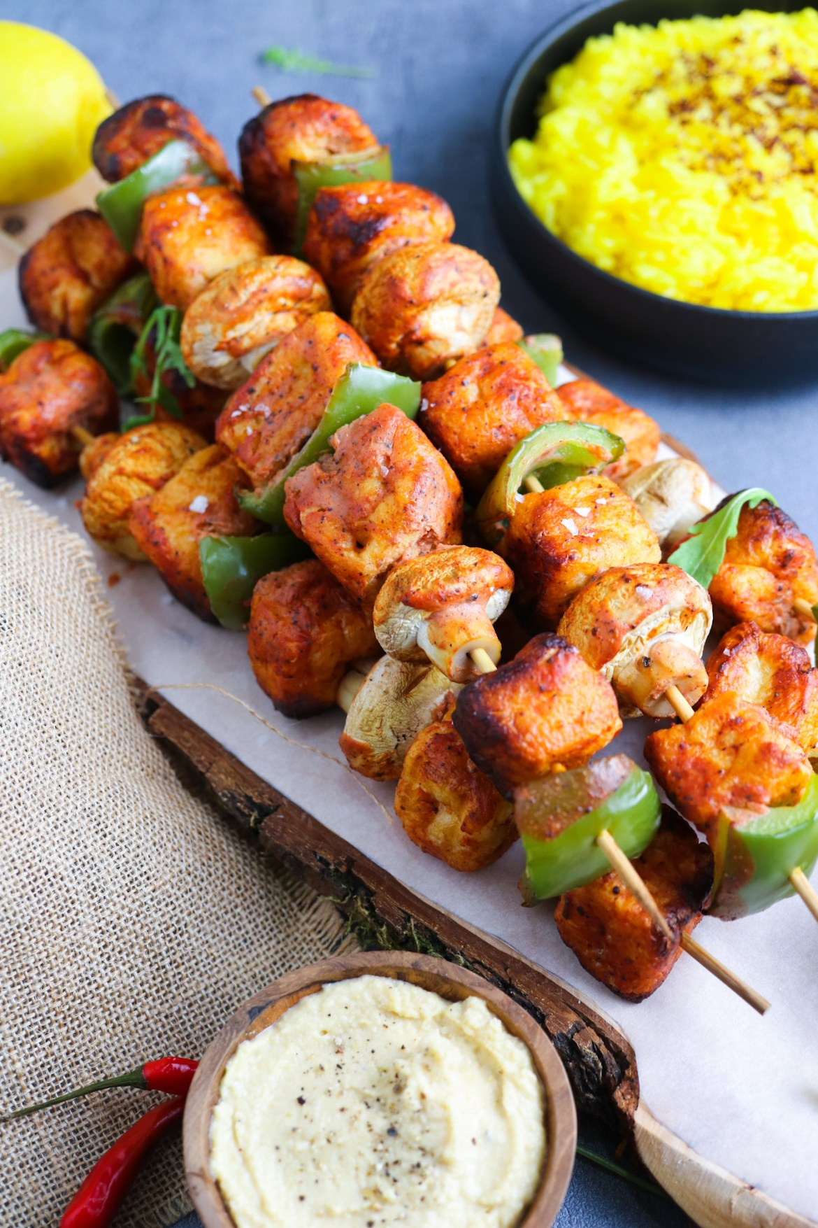 Marinated Tofu Puffs Skewers | Only 7 Ingredients