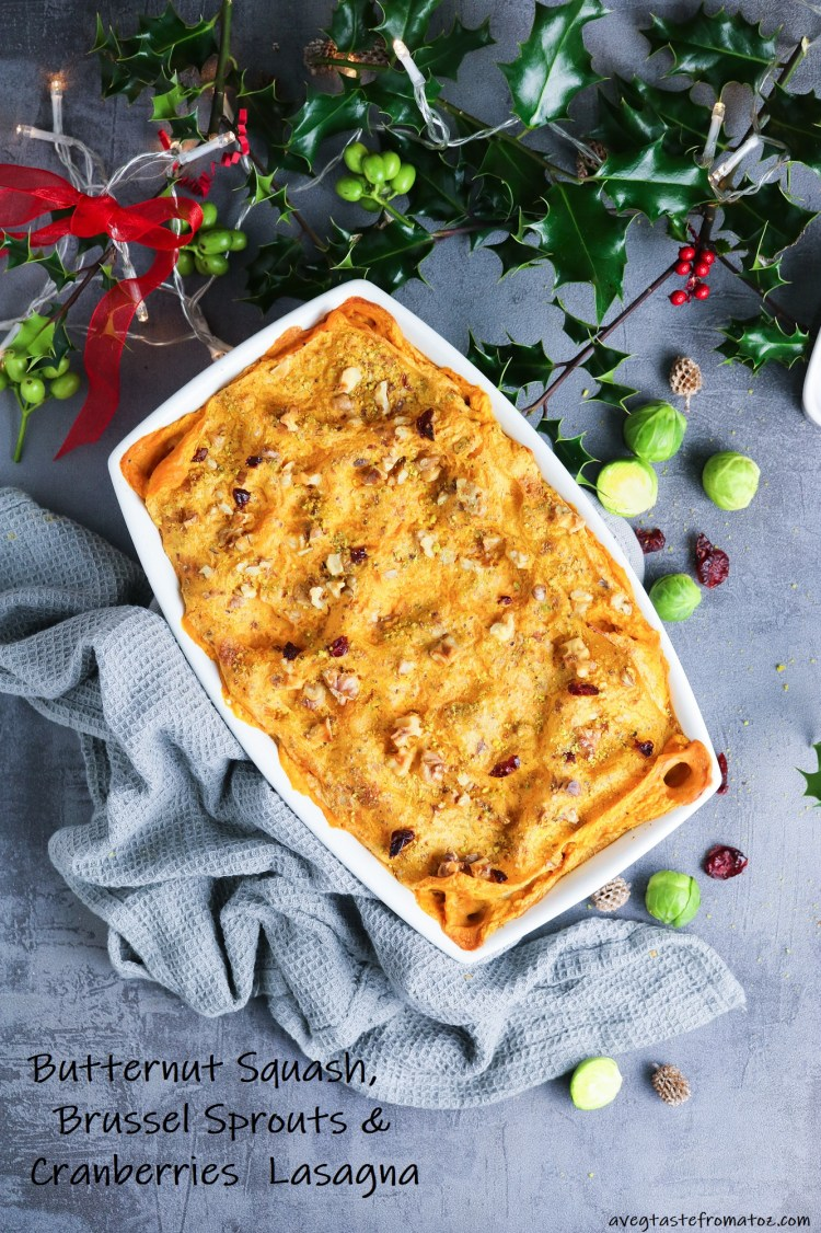 Christmas Butternut Squash Lasagna for pinterest