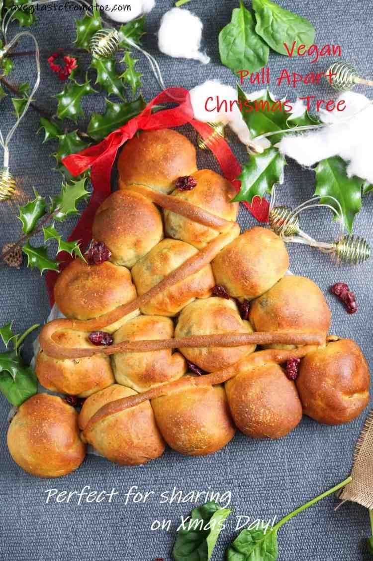 pull apart bread Christmas Tree for pinterest