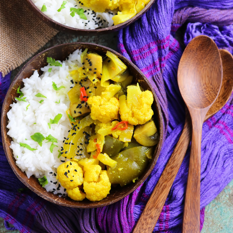 Curry di Cavolfiore, Porri e Verdure | Semplice e Gustoso