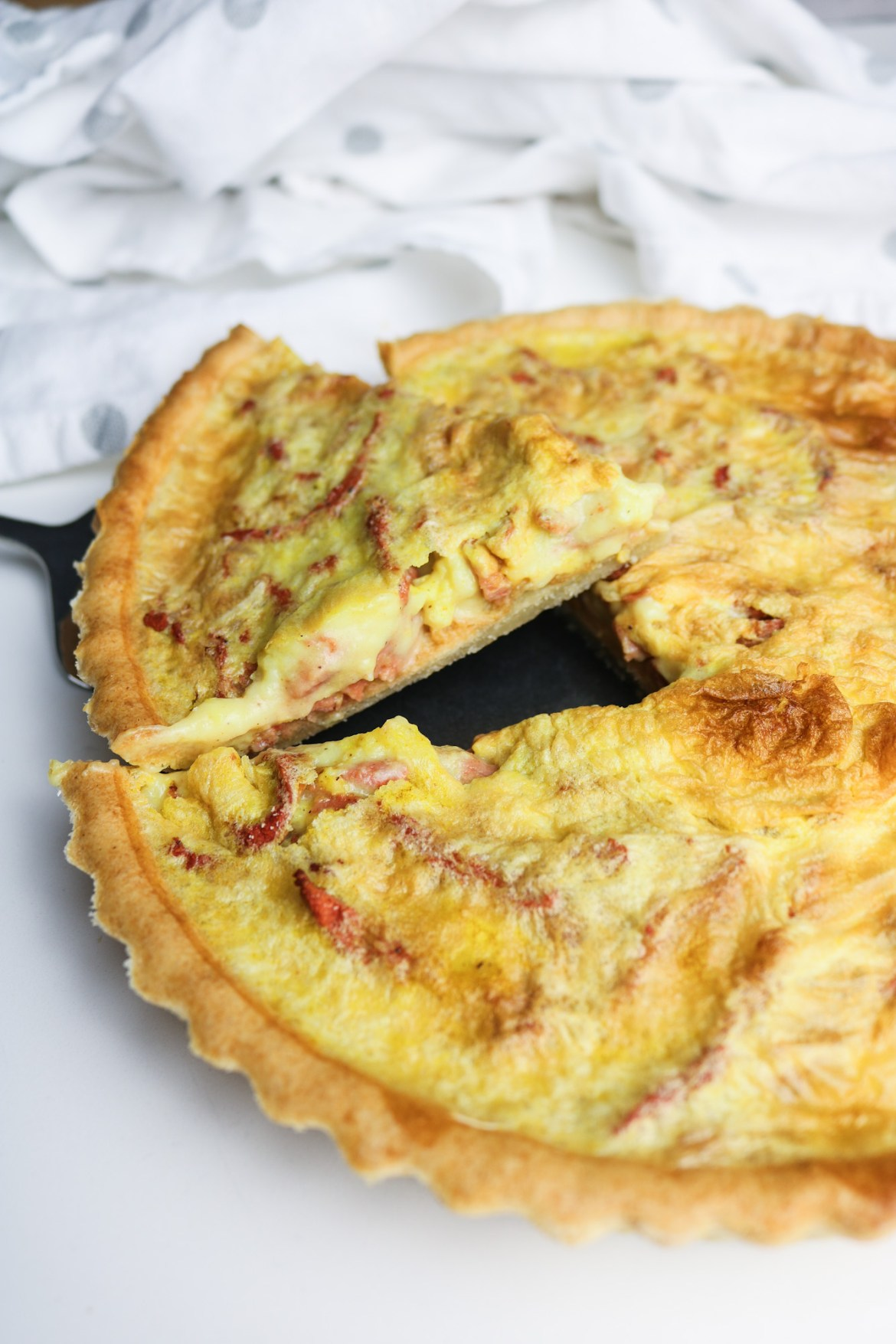 Vegan Quiche Lorraine Inside Close up