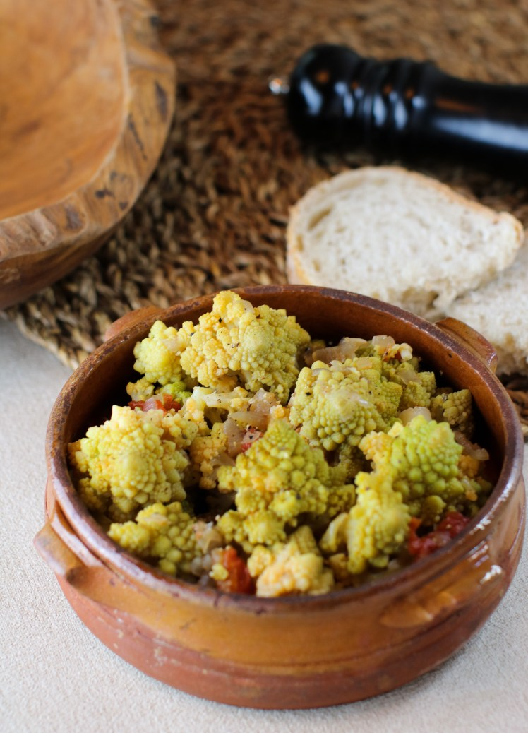 easy romanesco broccoli stew