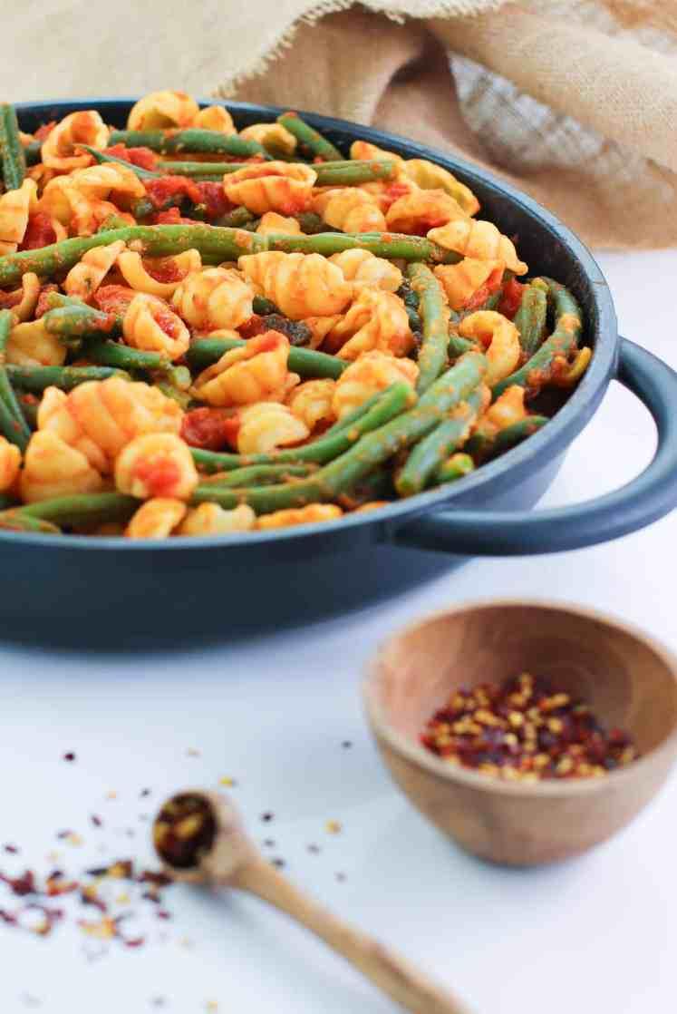 easy green bean pasta bake pre cheese