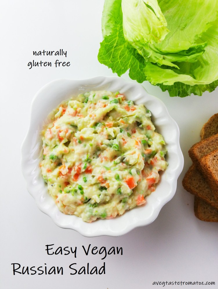 vegan russian salad for pinterest