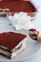 super easy perfect vegan tiramisù close up