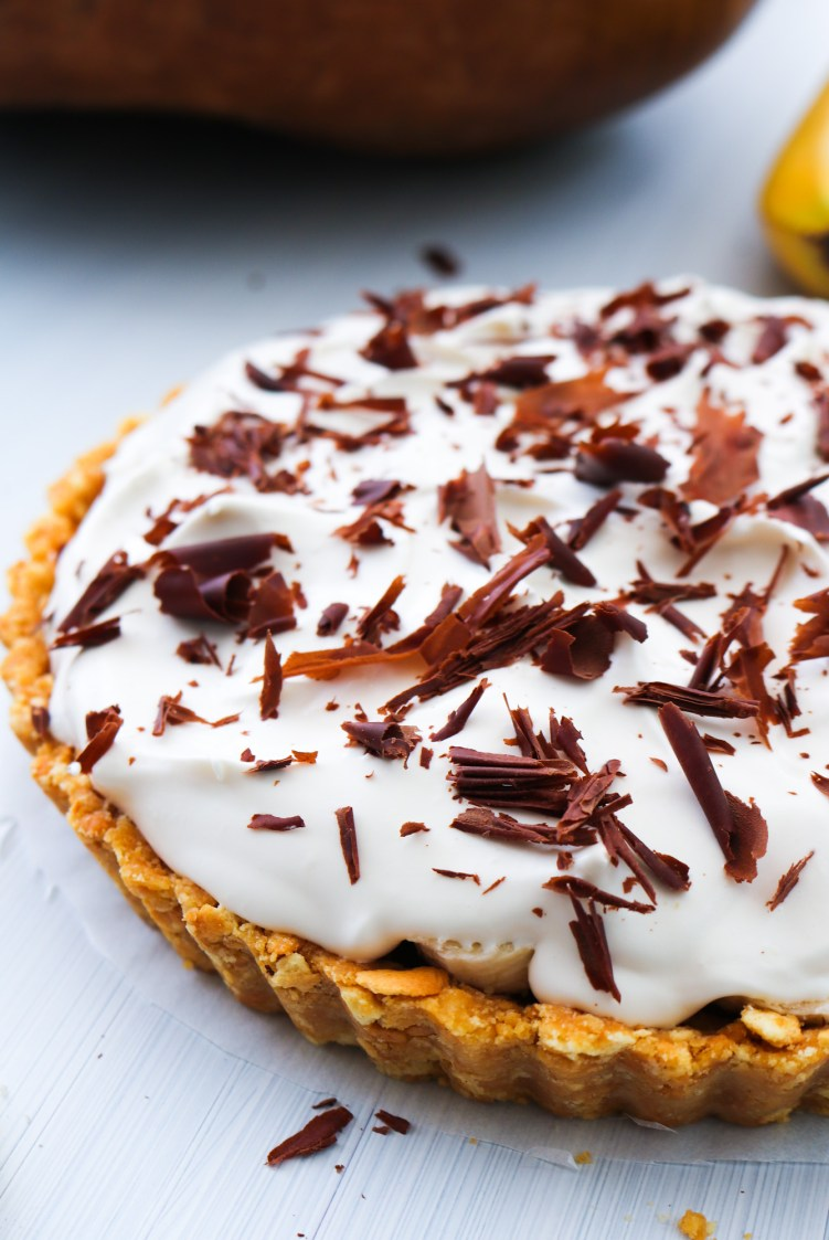 Decadent Vegan Banoffee Pie close up