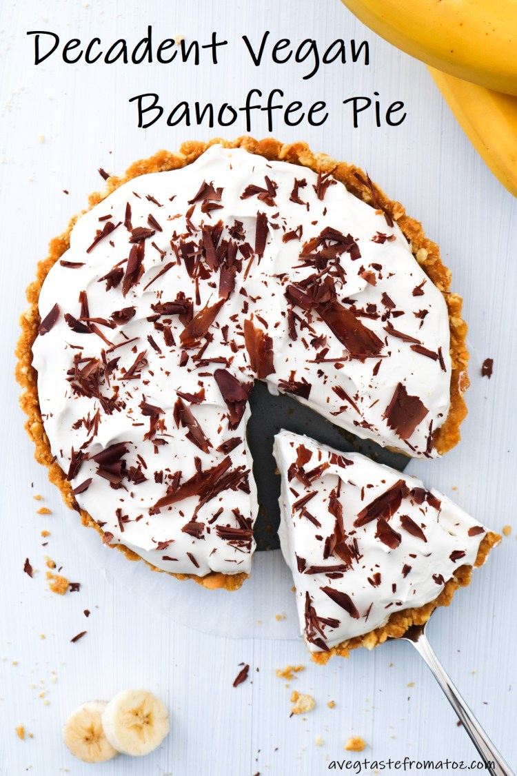 Decadent Vegan Banoffee Pie image for pinterest