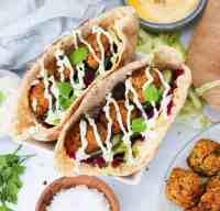 falafel di patata dolce nella friggitrice ad aria