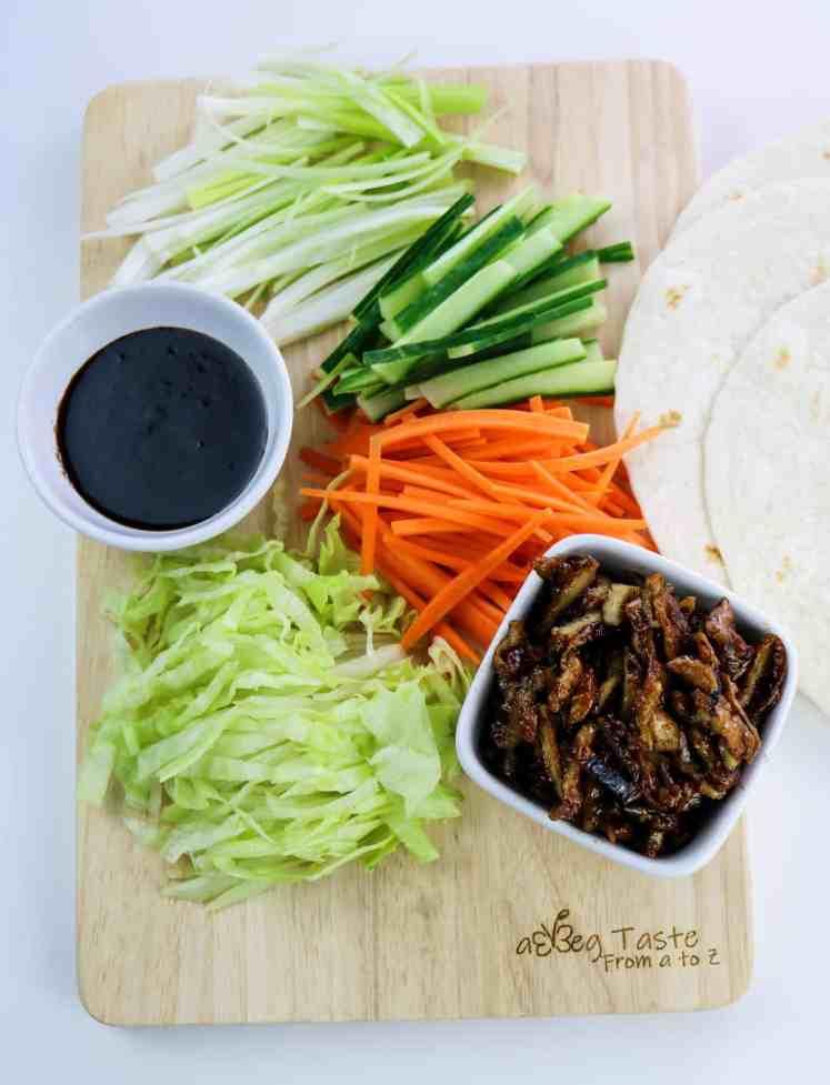 """Vegan Hoisin """"Duck"""" Wraps ingredients"""