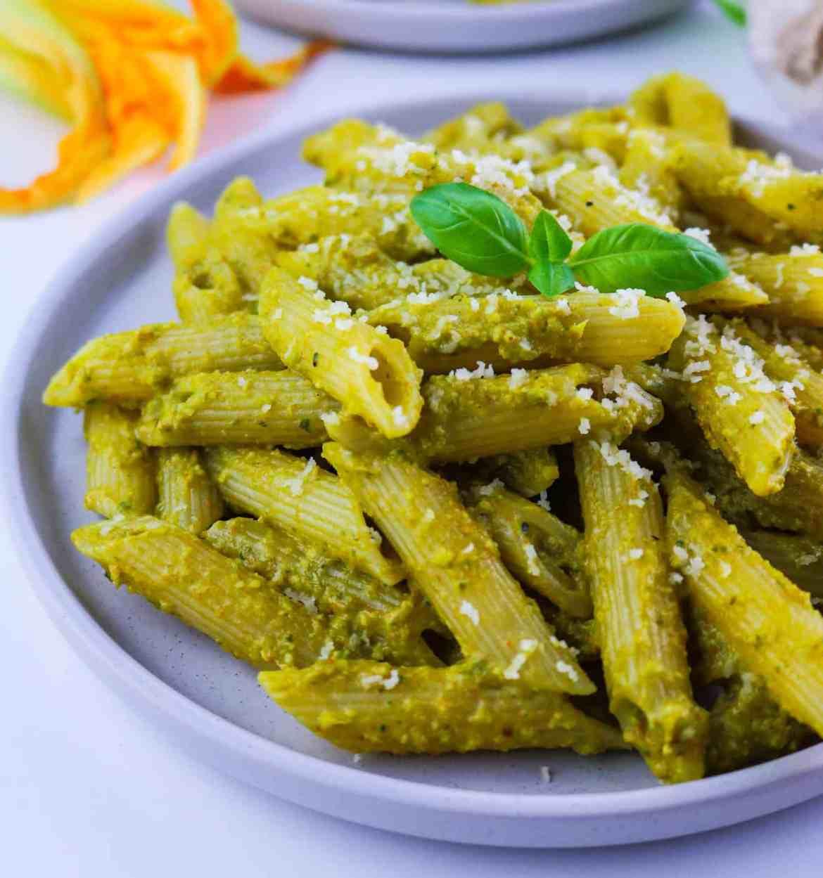Pesto Vegan di Fiori di Zucca