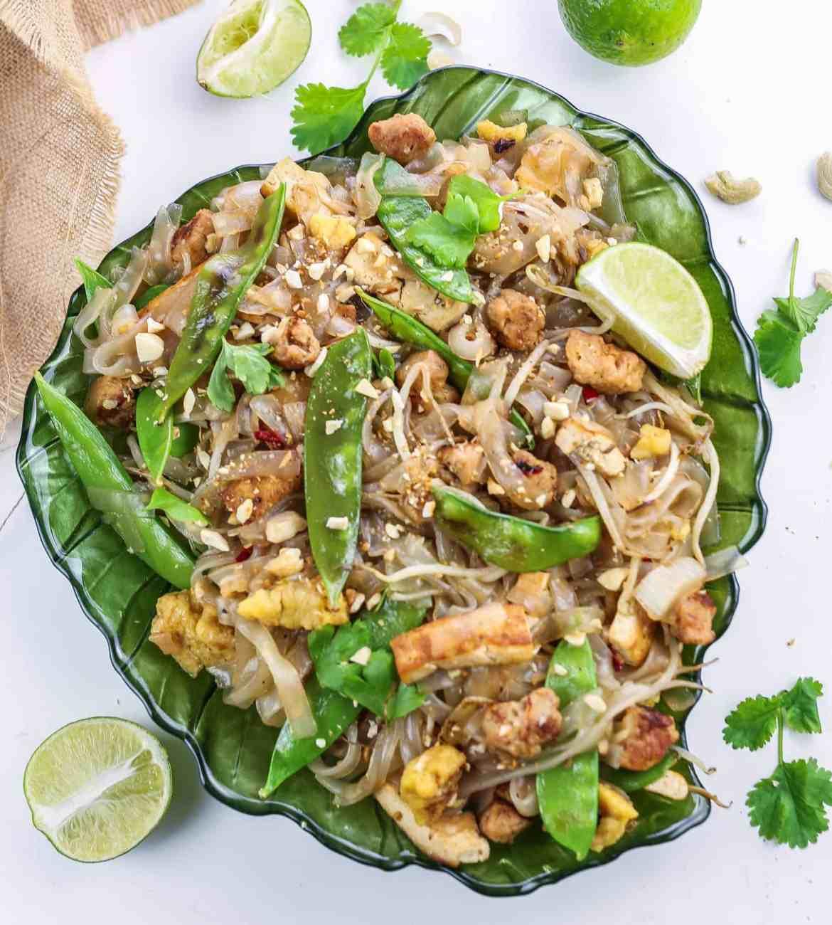 Vegan Pad Thai with Cashews