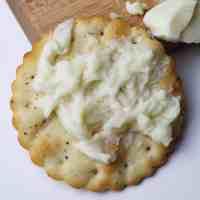formaggio stracchino vegano su cracker