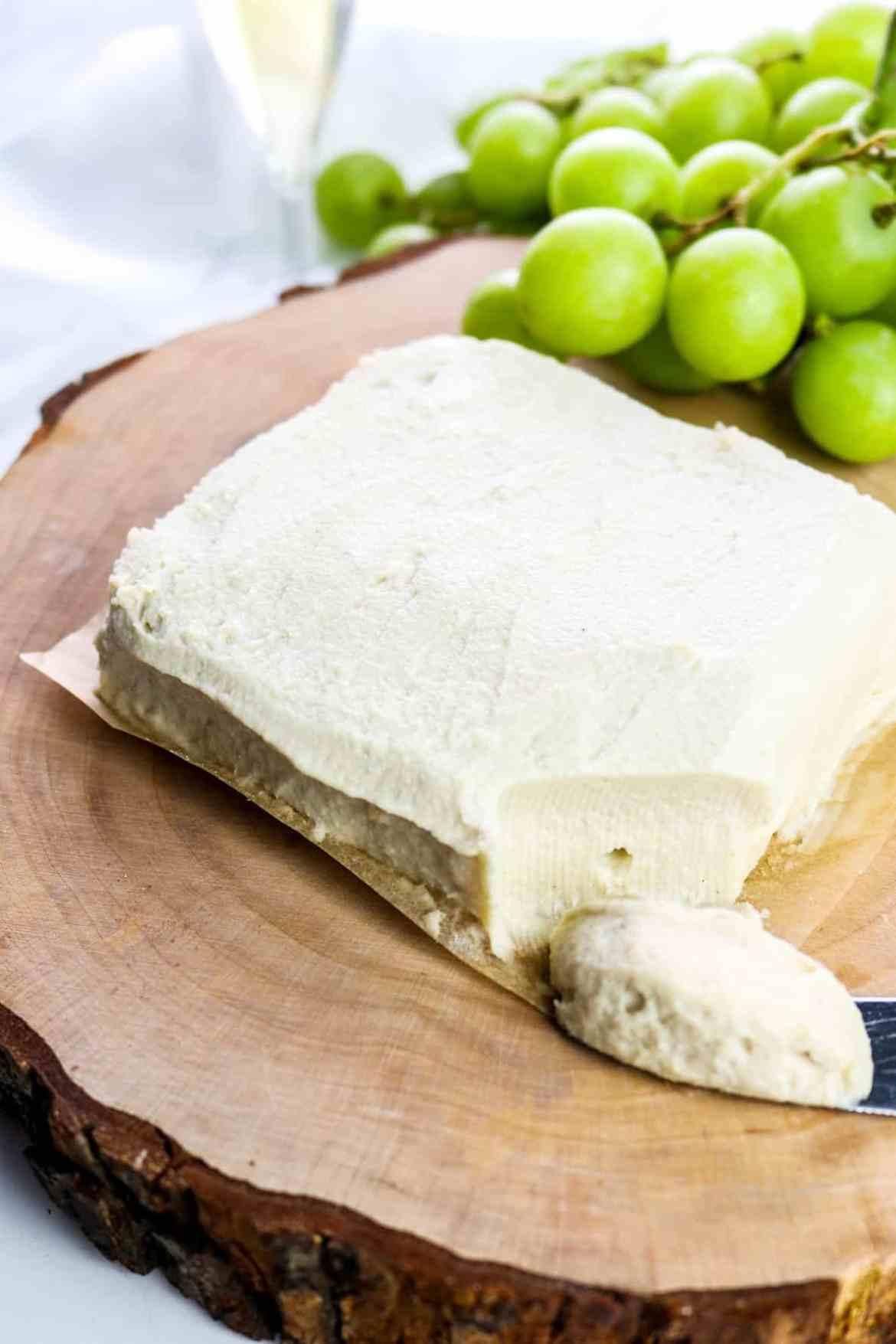 vegan overnight fermented cream cheese
