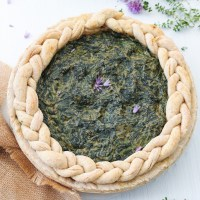 vegan spinach pie whole