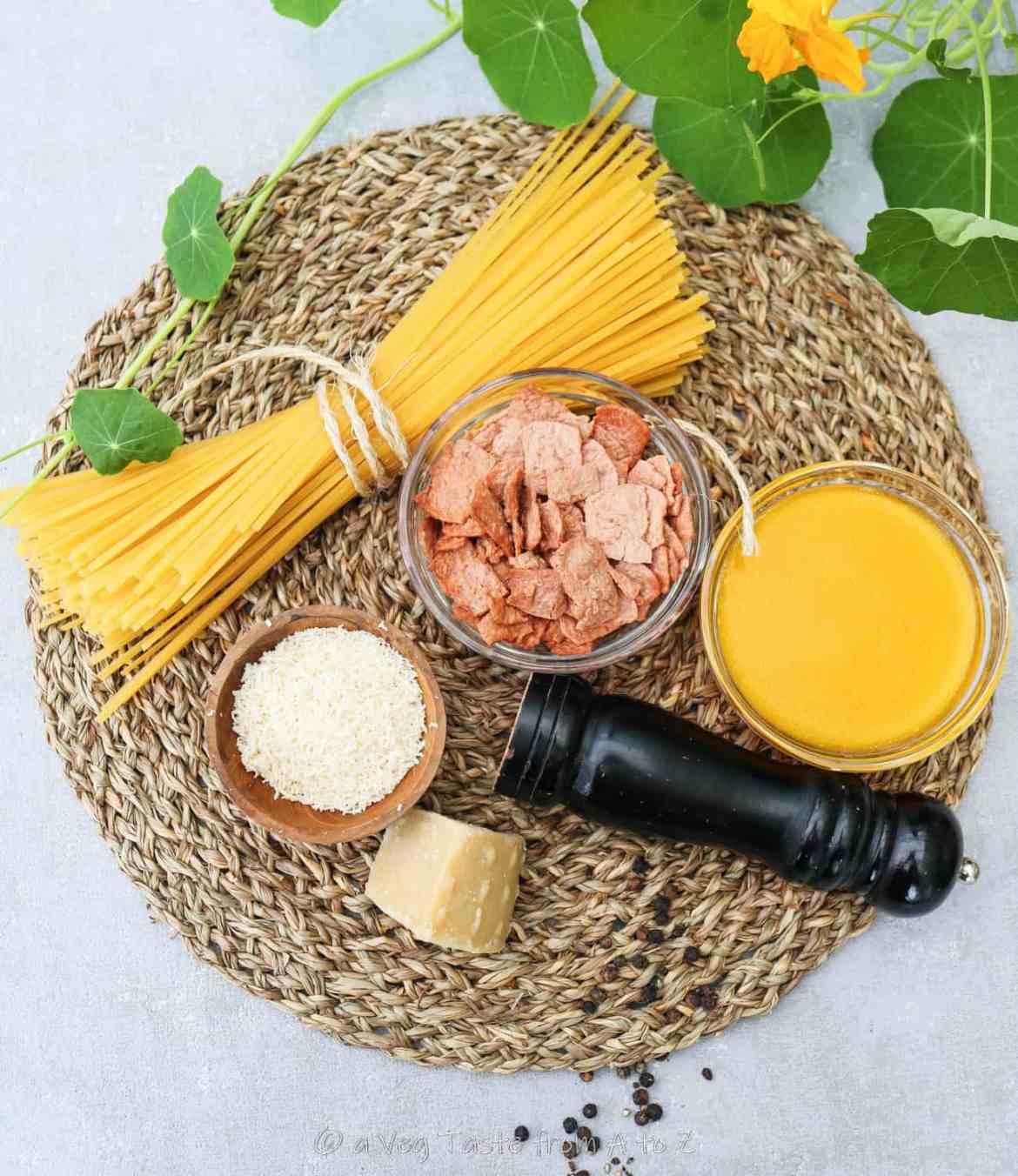 vegan carbonara ingredients