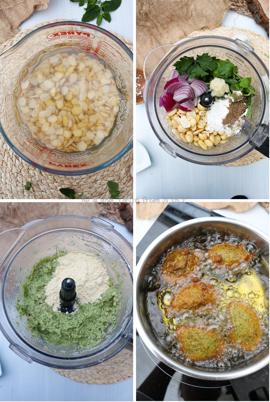 steps to make broad beans falafels