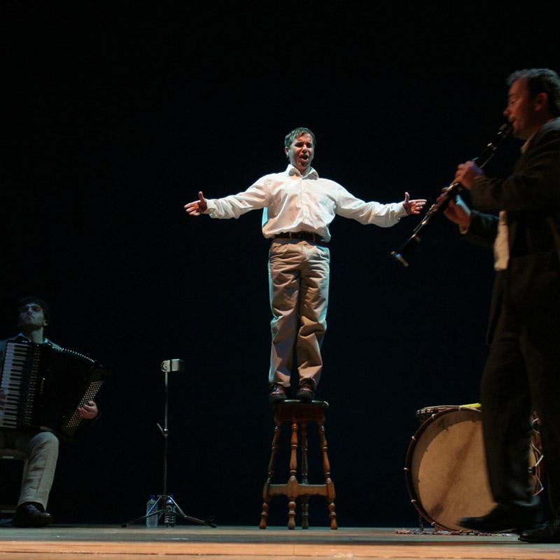 O actor e monologuista Avelino González