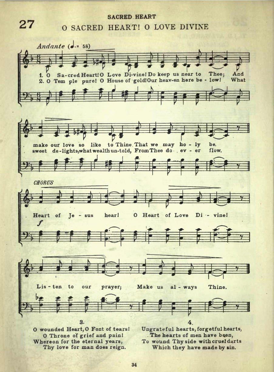 O sacred heart, O love divine, Do keep us near to thee   Hymnary.org