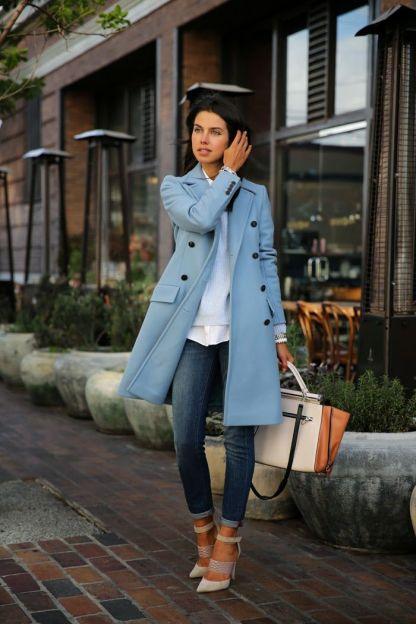 Ice blue coat
