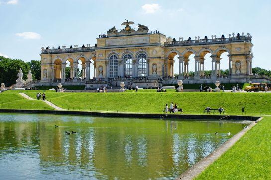 Gloriette in Schoenbrunn Palace park in Vienna, Austria