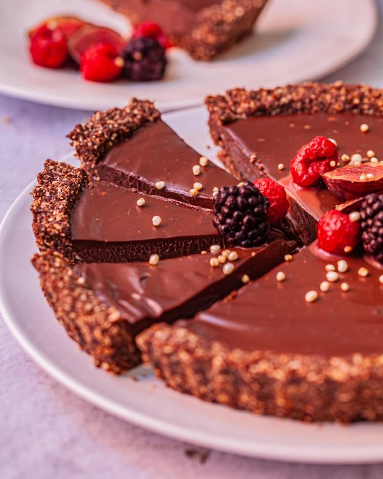 Tarta de chocolate sin horno y sin gluten