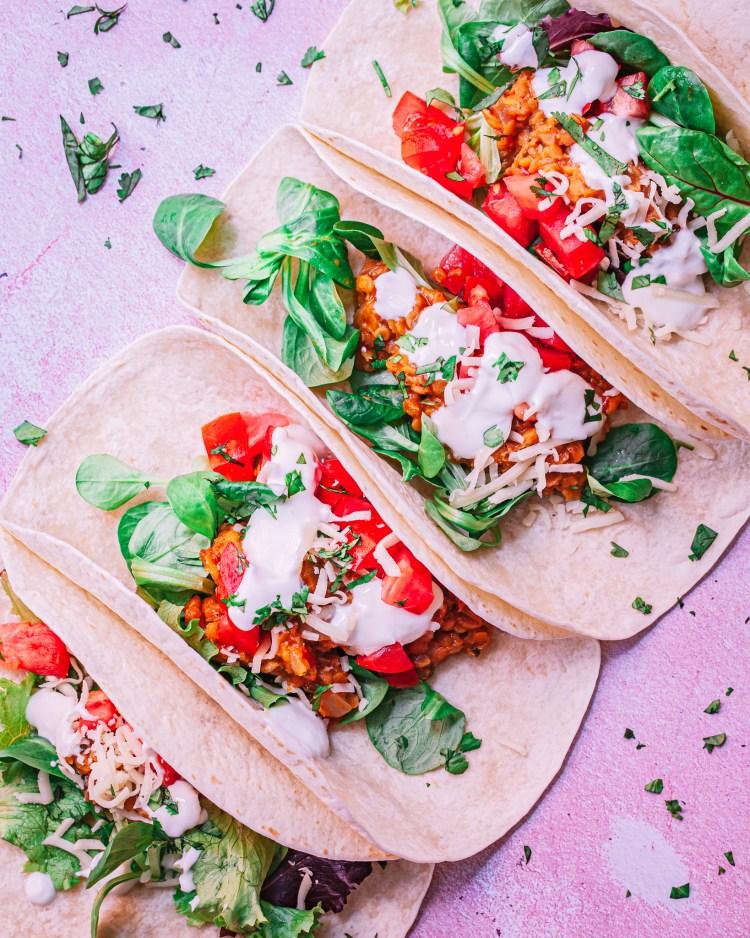 Tacos de lentejas: receta de tacos vegetarianos