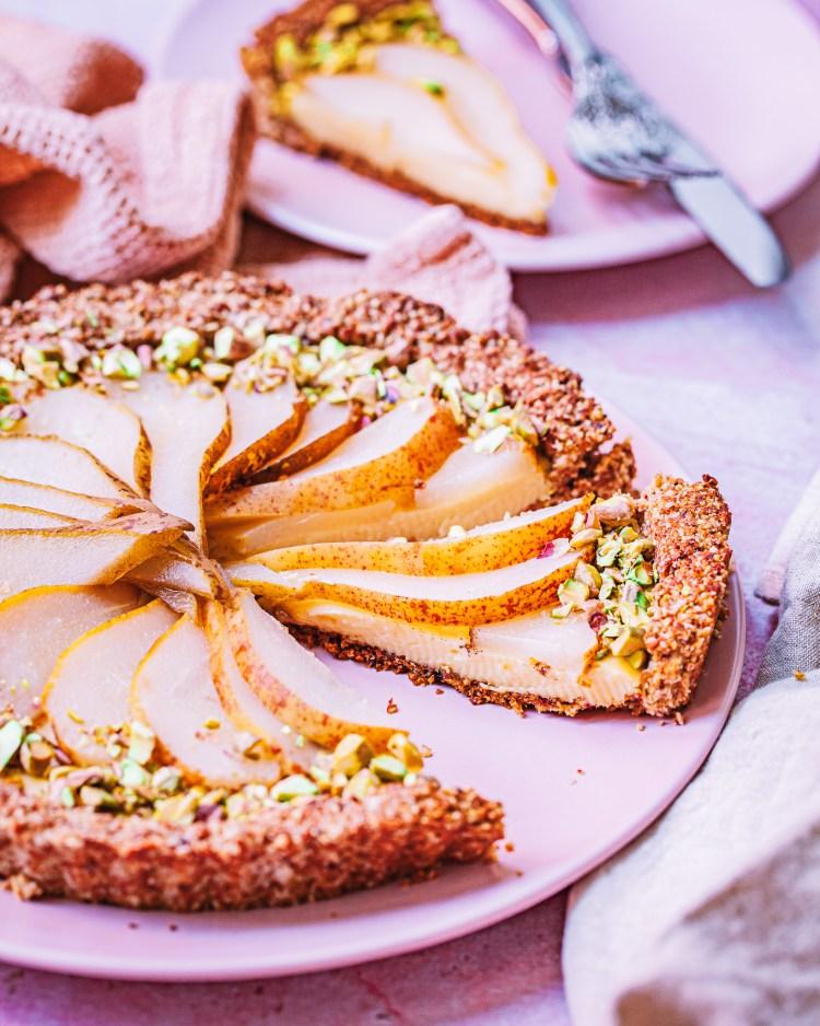 Tarta de crema y pera: receta saludable con pera