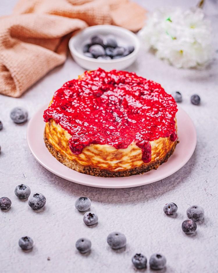New York cheesecake sin azúcar y sin gluten