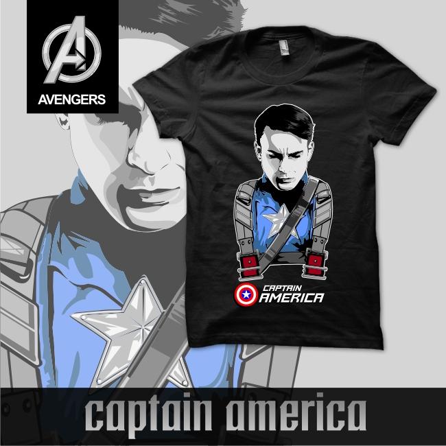 Kaos Gambar Captain America