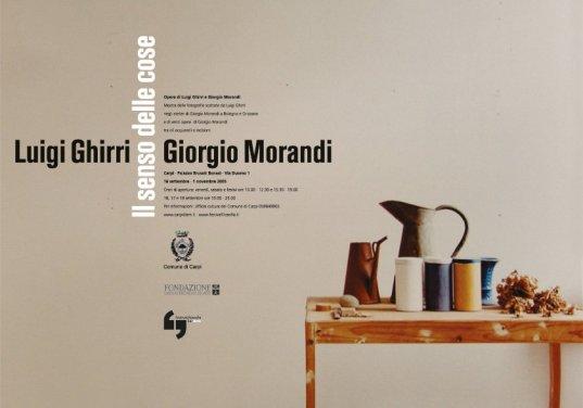 Luigi Ghirri Giorgio Morandi _ Il senso delle cose _ Mostra