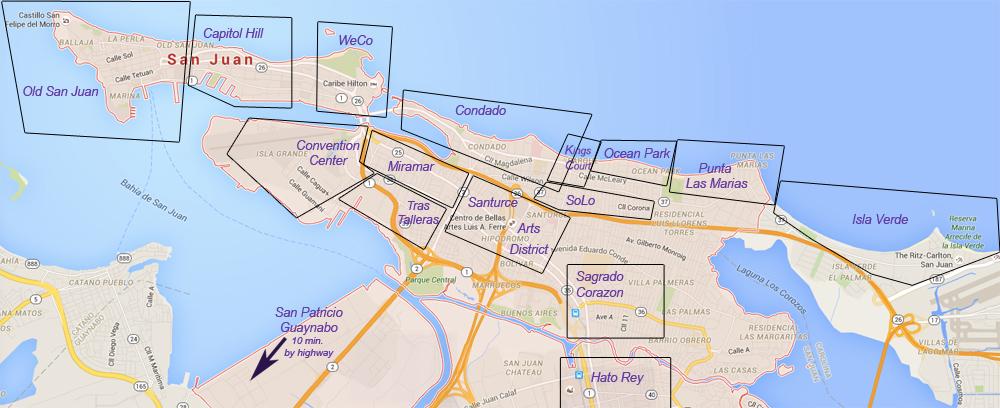 Click here for map of San Juan's neighborhoods