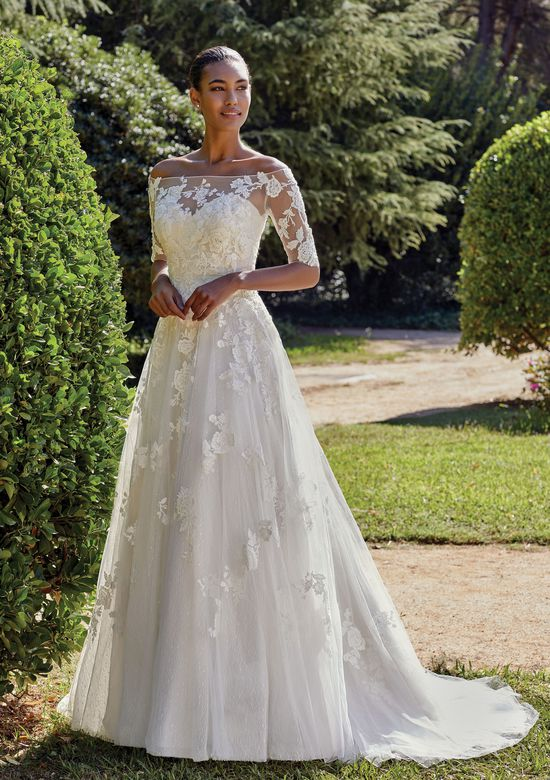 class silver wedding gown