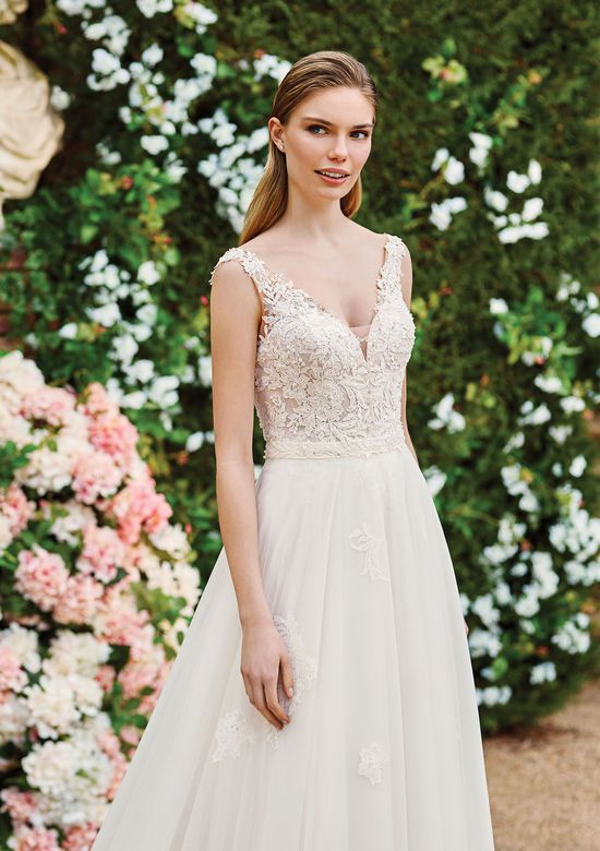 lace gown with detachable skirt