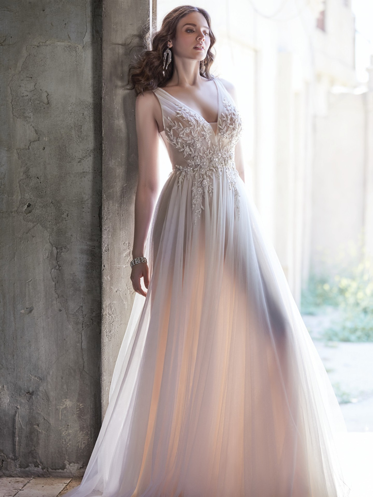Maggie Sottero tulle gown