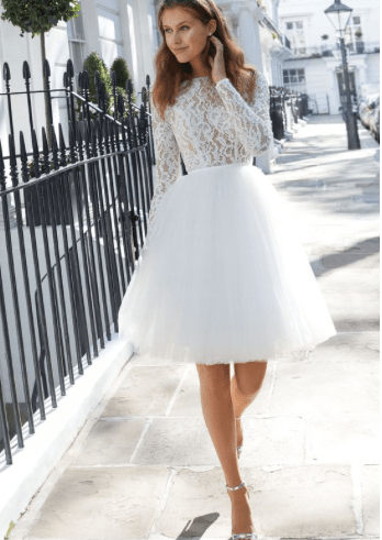 Short Wedding Dress Reception Dress