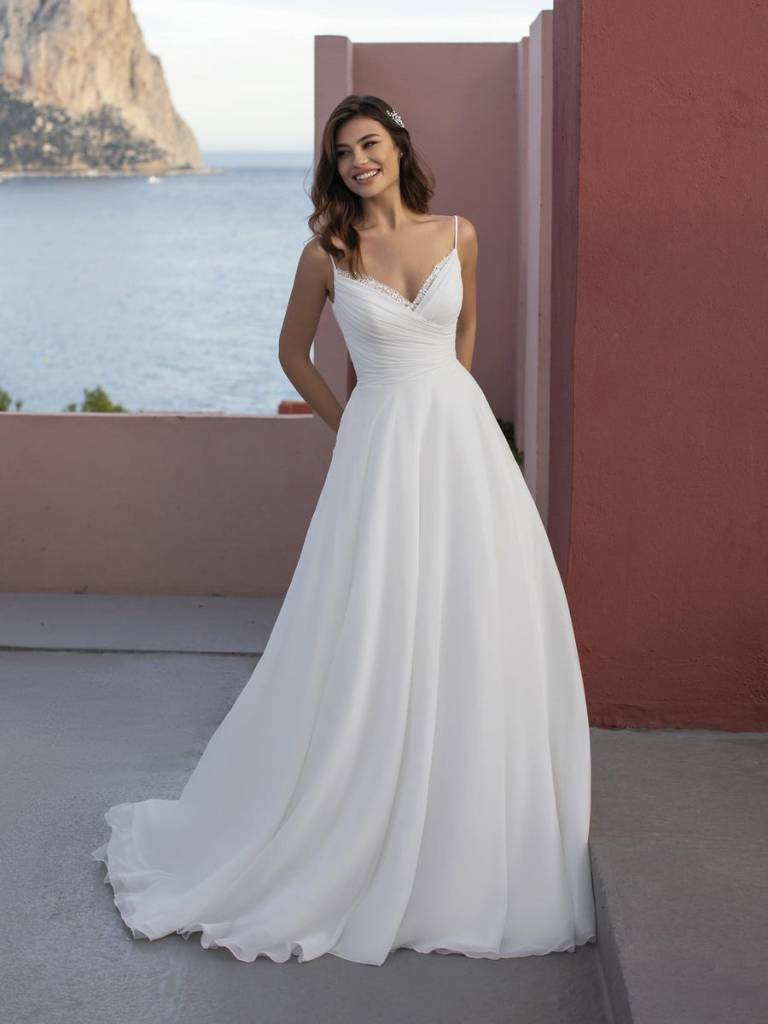 chiffon a line gown