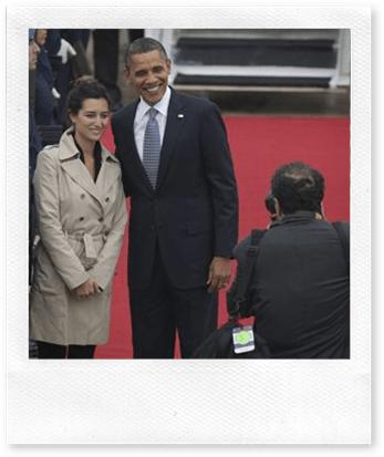 Carolina Amado e Barack Obama