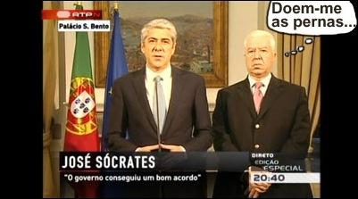 sócrates e teixeira dos santos - comunicação ao país sobre a troika