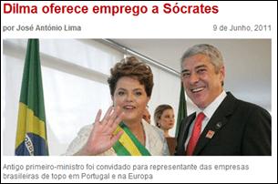 SOL: Dilma oferece emprego a Sócrates