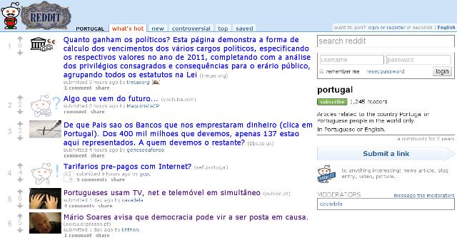 Sub-reddit de Portugal - inscreva-se!